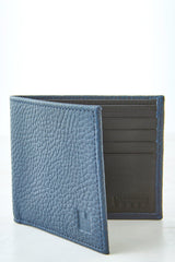 Lambertson Truex Navy Leather Bifold Wallet