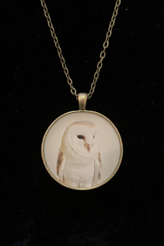 Neil Manson Barn Owl Pendant Necklace