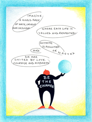 "Sandy Miller ""Be the Change"" Postcard, Pack of 5"
