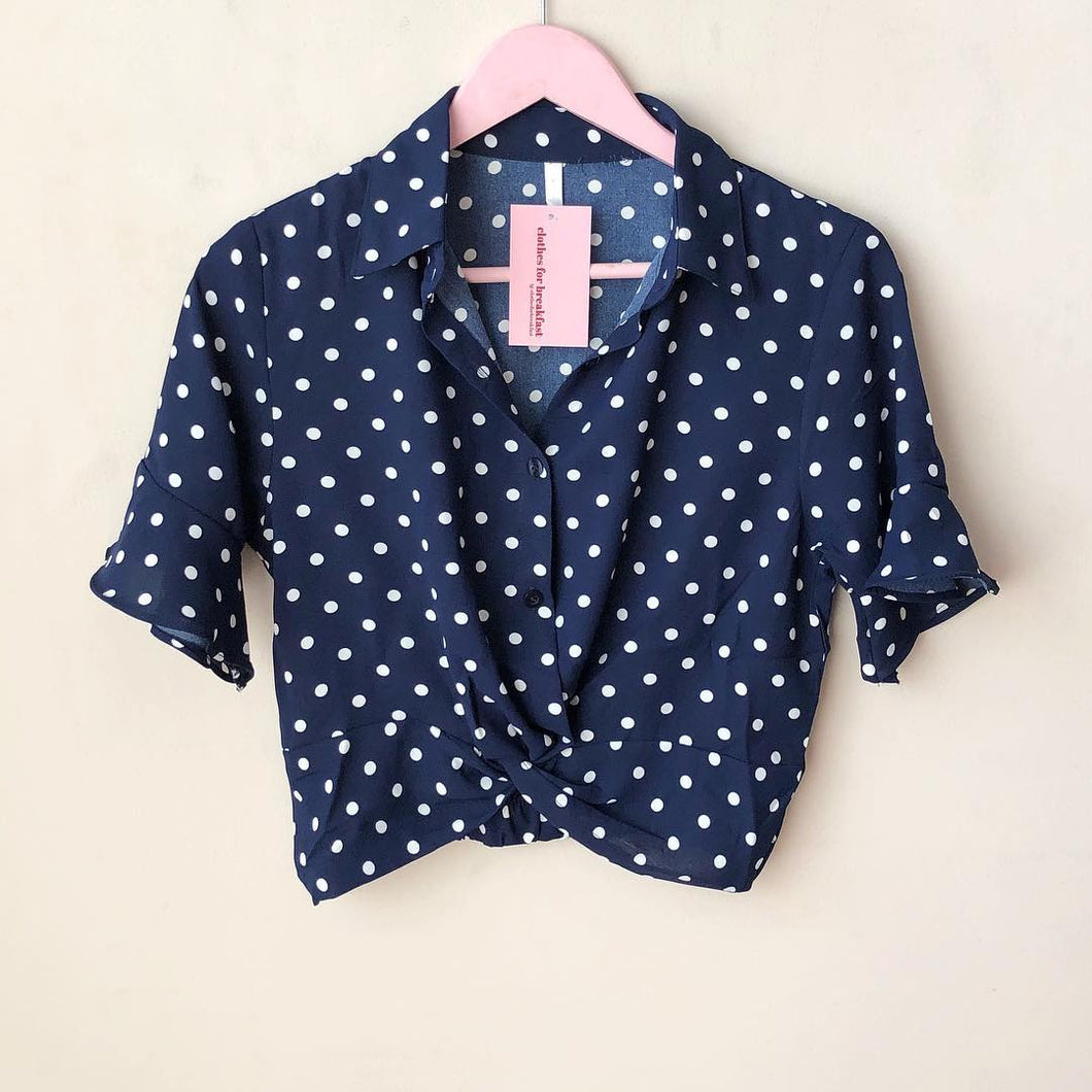 Polka Button Down