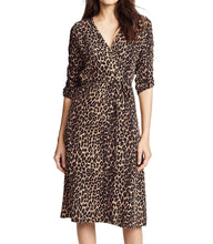 Load image into Gallery viewer, Leopard Print Wrap Dress