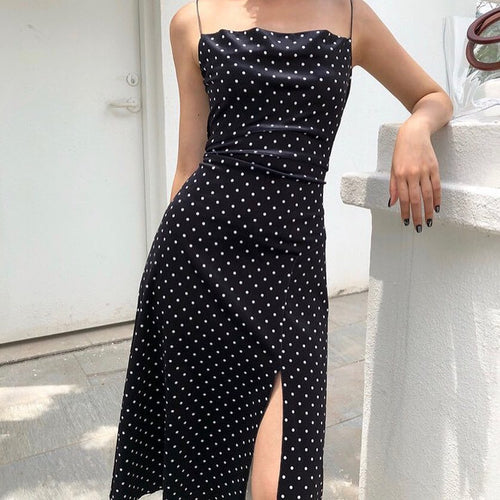 Velvet Polka Slip Dress
