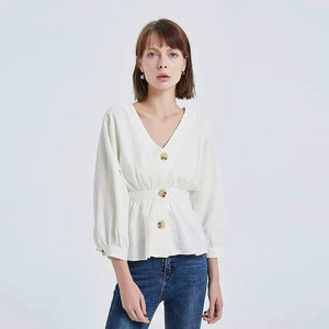 Long Sleeved Linen Top