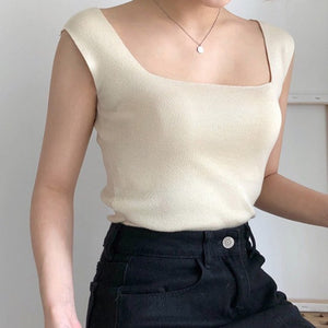 Square Knit Top