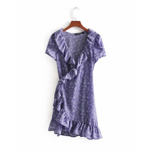 Load image into Gallery viewer, Mini Orchid Wrap Dress