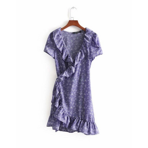 Mini Orchid Wrap Dress
