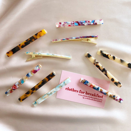 Resin Barrettes (Pair)