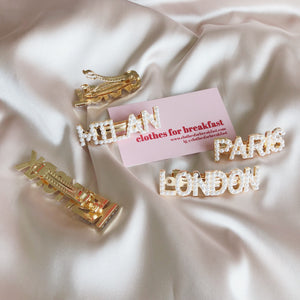 Statement City Hair Clasps (Piece)