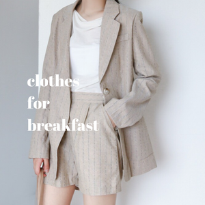 Striped Linen Blazer Set