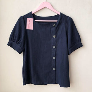 Linen Square Neck Top