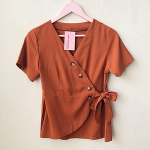 Piper Button Wrap Top
