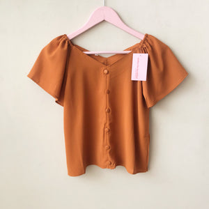 Susie Button Front Top