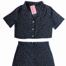 Load image into Gallery viewer, Navy Polka Set