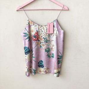 Printed Satin Cami Top