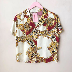 Retro Print Button Down