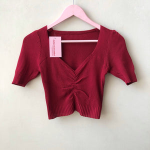 Sweetheart Knit Top