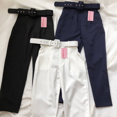 Belted Highwaist Trousers