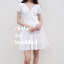 Load image into Gallery viewer, White Eyelet Dress