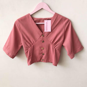 Petite Button Top