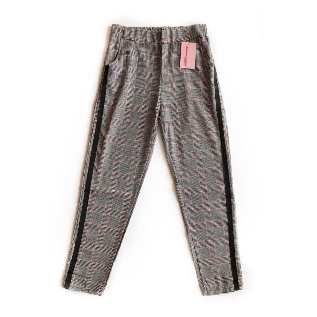 Plaid Track Trousers