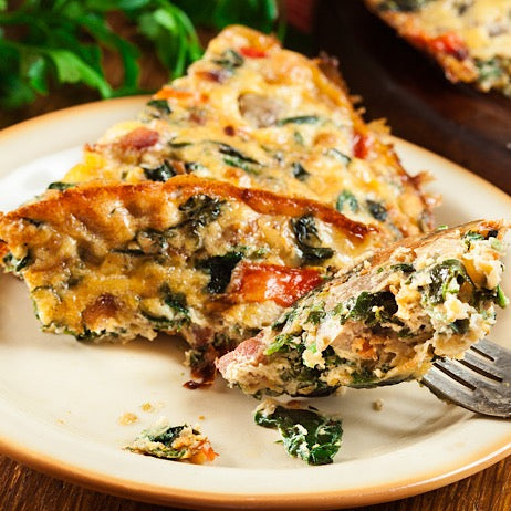 Veggie Supreme Crustless Quiche