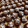 Peppermint Hot Chocolate Clean Cheatz Donut Holes