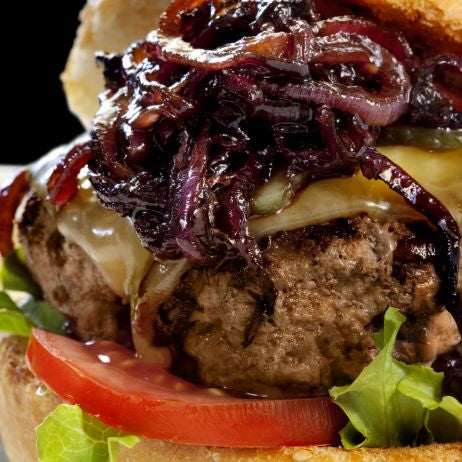 Onion and Swiss Turkey Burger