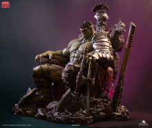 Load image into Gallery viewer, Queen Studios 1/4 Green Scar Hulk on throne