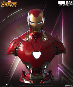 Queen Studios Life Size Iron Man Mark 50 Bust - Clean
