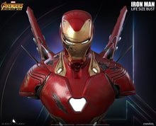 Load image into Gallery viewer, Queen Studios Life Size Iron Man Mark 50 Bust - Battle Damage