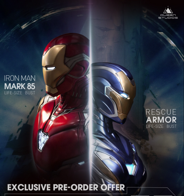 Queen Studios Life Size Iron Man Mark 49 & 85 Bust (Combo)