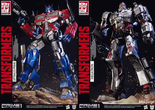 Prime 1 Studio Transformer G1 Optimus Prime + Megatron Combo set