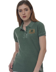 Melbourne Crest Ladyfit Washed Polo