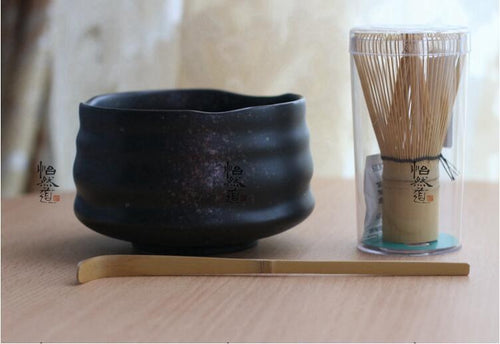 Japan Handmade Bator Matcha kit gift Maccha whisk bowl scoop black tea set scoop moderate Japanese green tea teaware tea ware