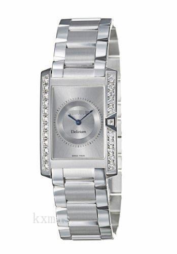 Classy Inexpensive 18Ct White Gold 17 mm Watch Band 310999_K0025725