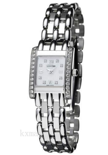Cheap And Stylish 18Ct White Gold 12 mm Watch Band 311330_K0025709