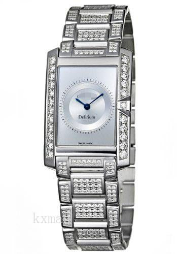 Best Affordable Designer 18Ct White Gold 17 mm Watch Band 311759_K0025694