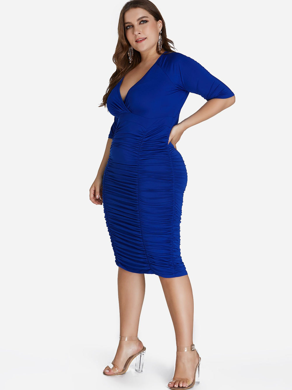 Ladies Blue Plus Size Dresses