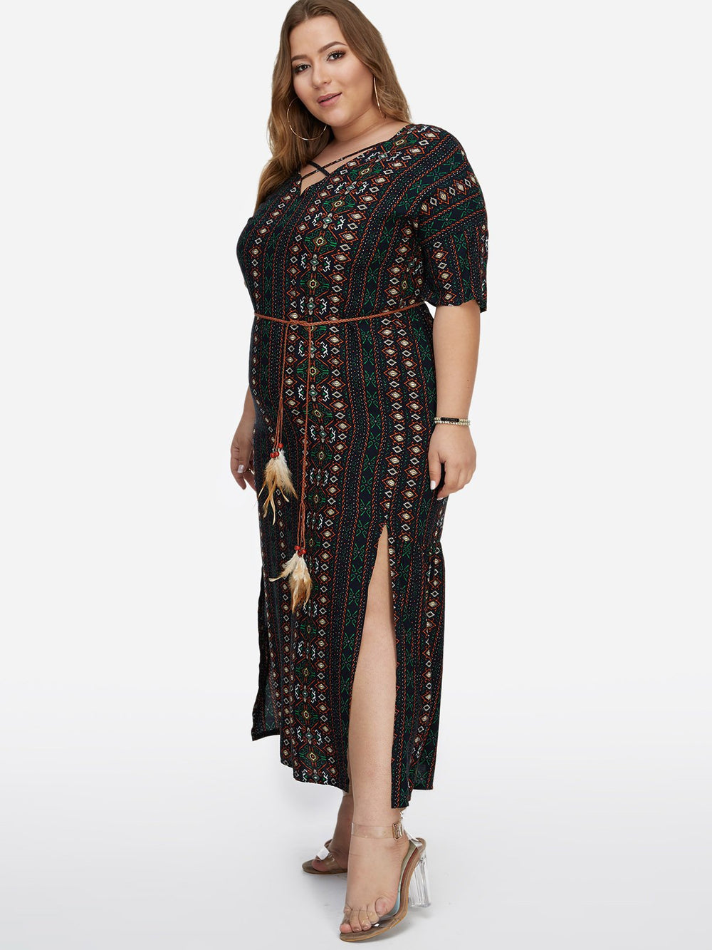 Ladies Green Plus Size Dresses