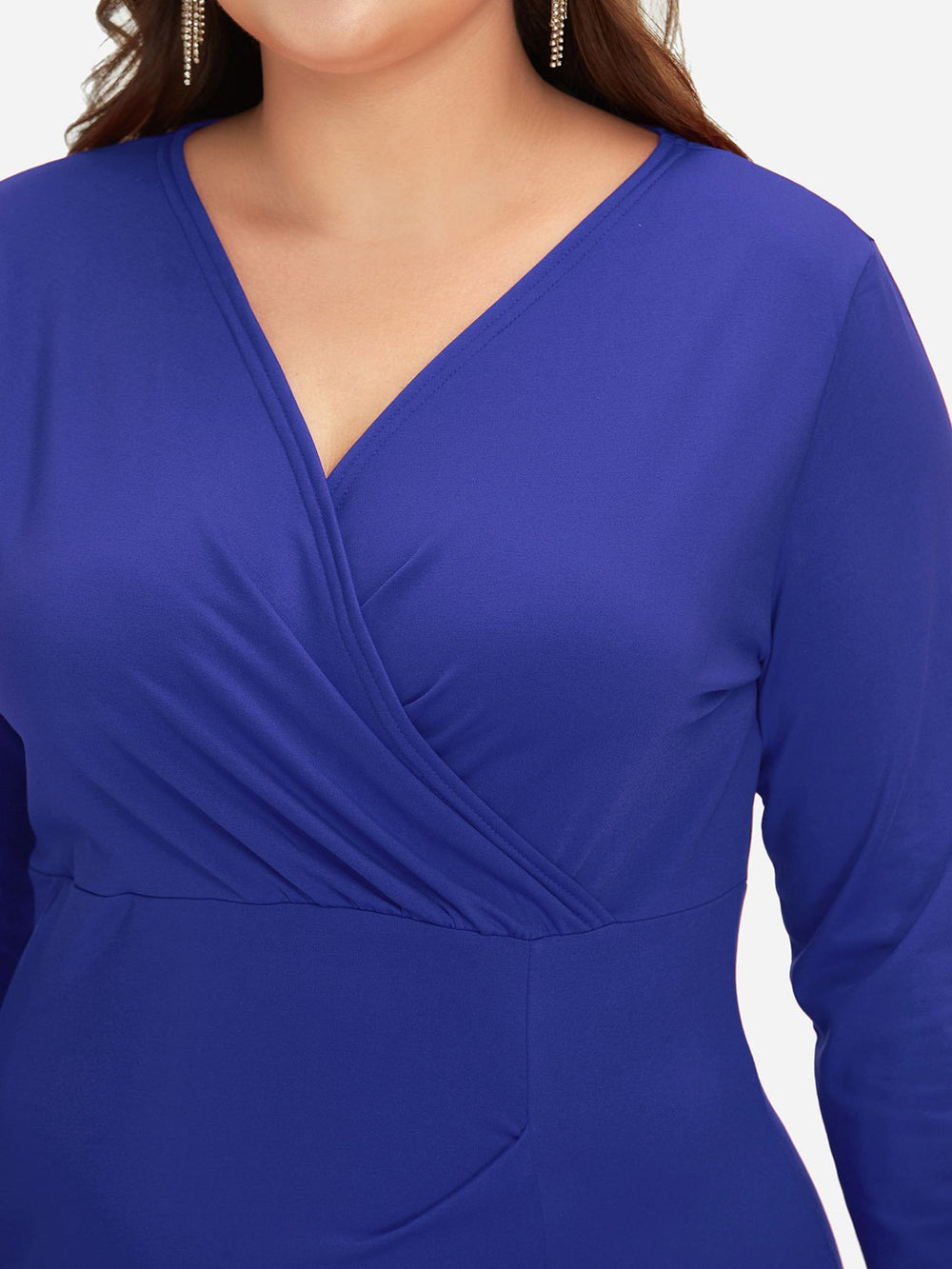 Womens Long Sleeve Plus Size Dress