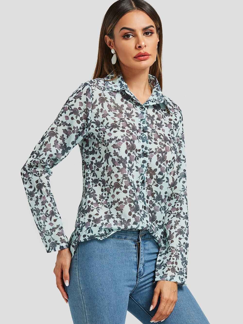 Ladies Grey Blouses