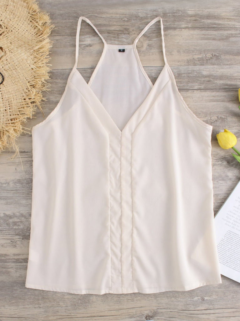 V-Neck Spaghetti Strap Sleeveless Tank Top