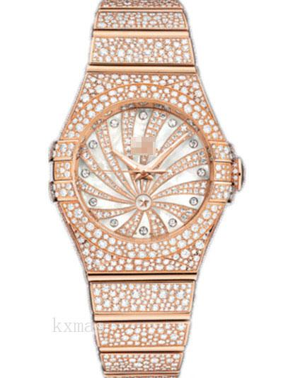 Wholesale Discount Rose Gold 24 mm Watch Band Replacement 123.55.31.20.55.006_K0018028