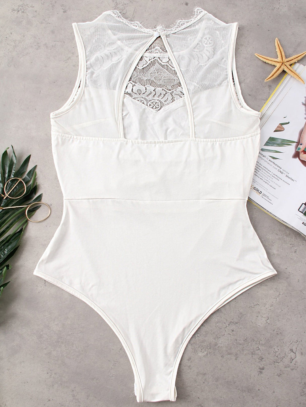 Ladies White Bodysuits