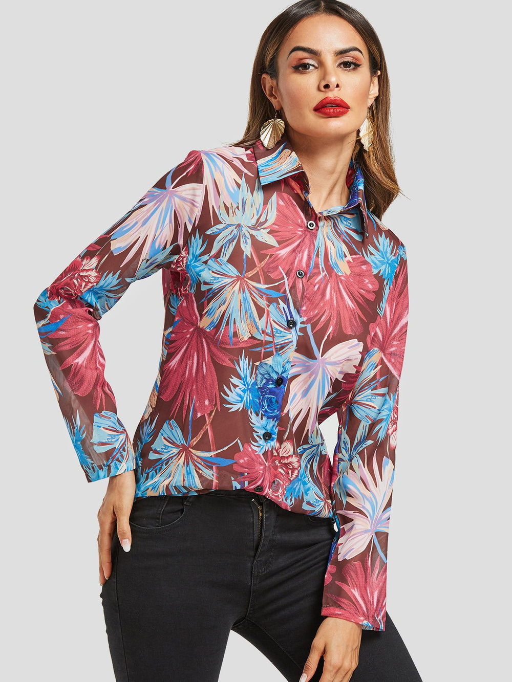 Womens Sleeveless Buttonup Shirts Blouses