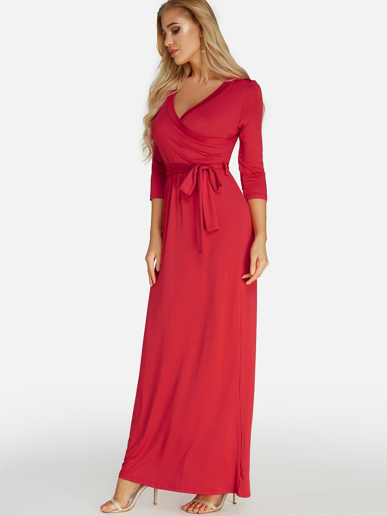 Ladies Red Maxi Dresses