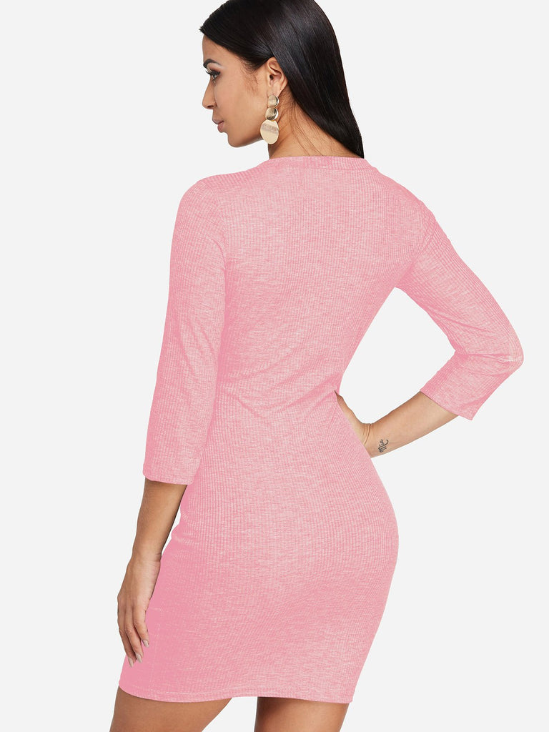 Womens Pink Bodycon Dresses