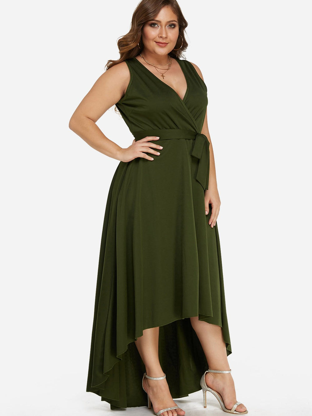 Ladies Army Green Plus Size Dresses
