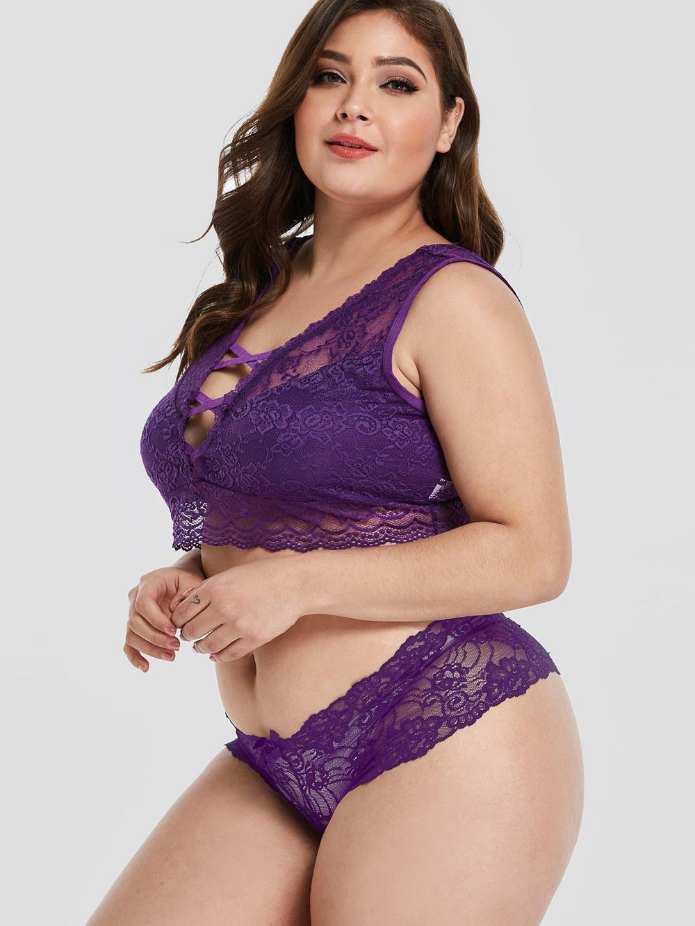 Ladies Purple Plus Size Intimates