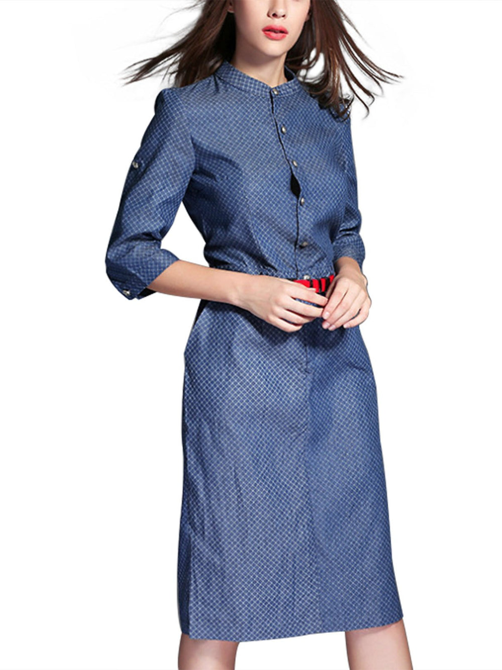 Ladies Blue Shirt Dresses